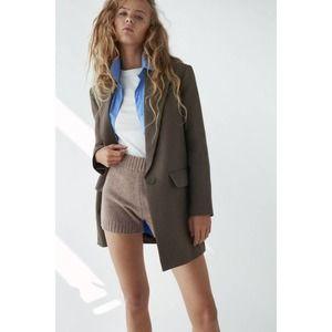 Zara Oversized Houndstooth Blazer